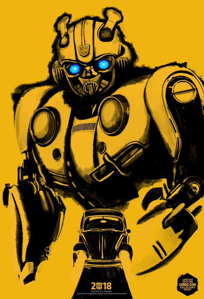 Bumblebee Official Comic-Con Exclusive Poster.