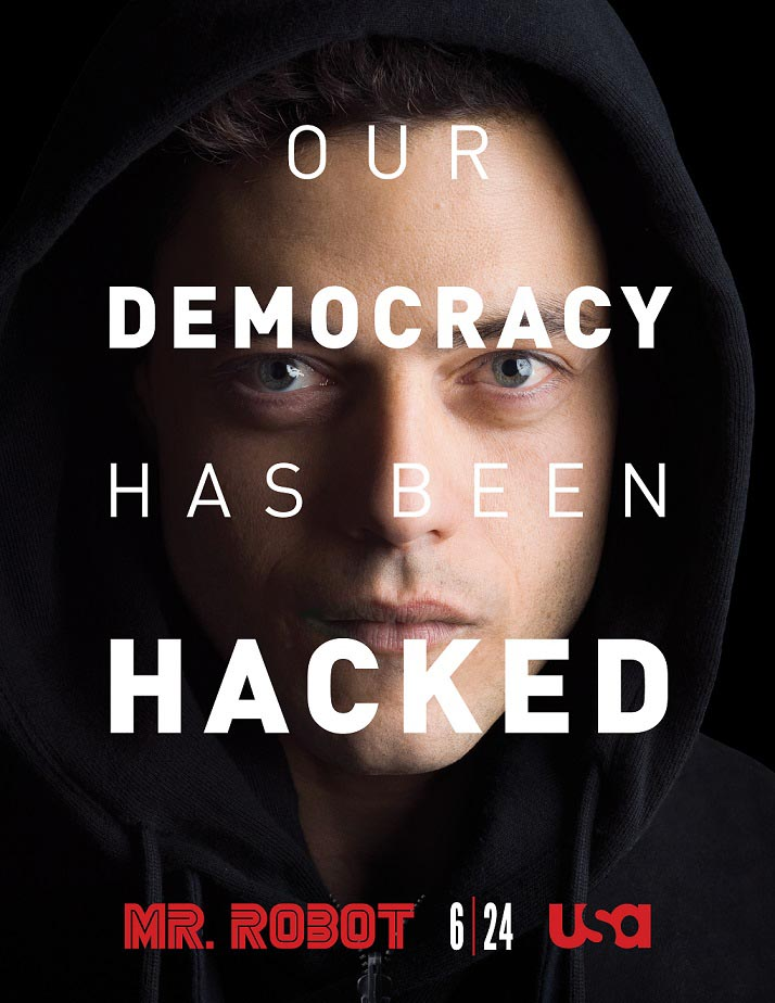 Mr. Robot - Elliot, a cyber-security engineer by day and vigilante hacker by night, is recruited by a mysterious underground group to destroy the forces he believes are running (and ruining) the world.