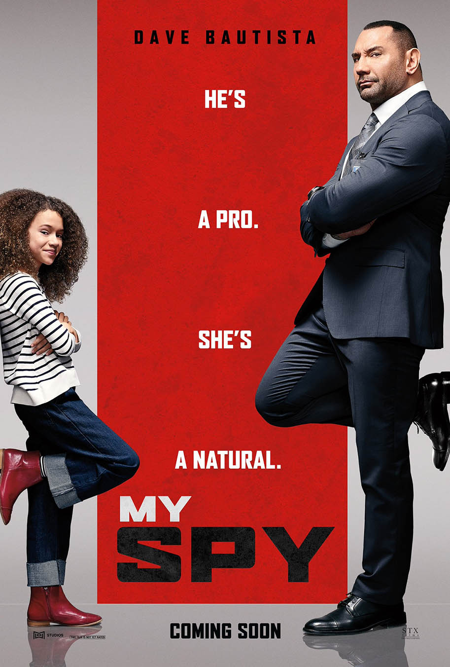 Dave Bautista stars in the slapstick first trailer for new comedy My Spy 2020 Full Movie Free Online
