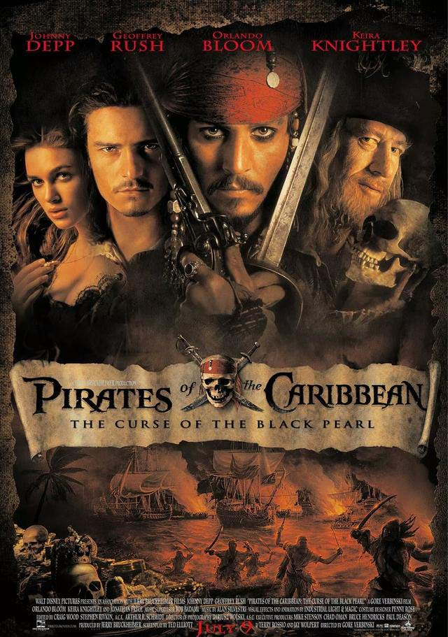 Pirates of the Caribbean: The Curse of the Black Pearl (2003) Full Movie poster Free Online