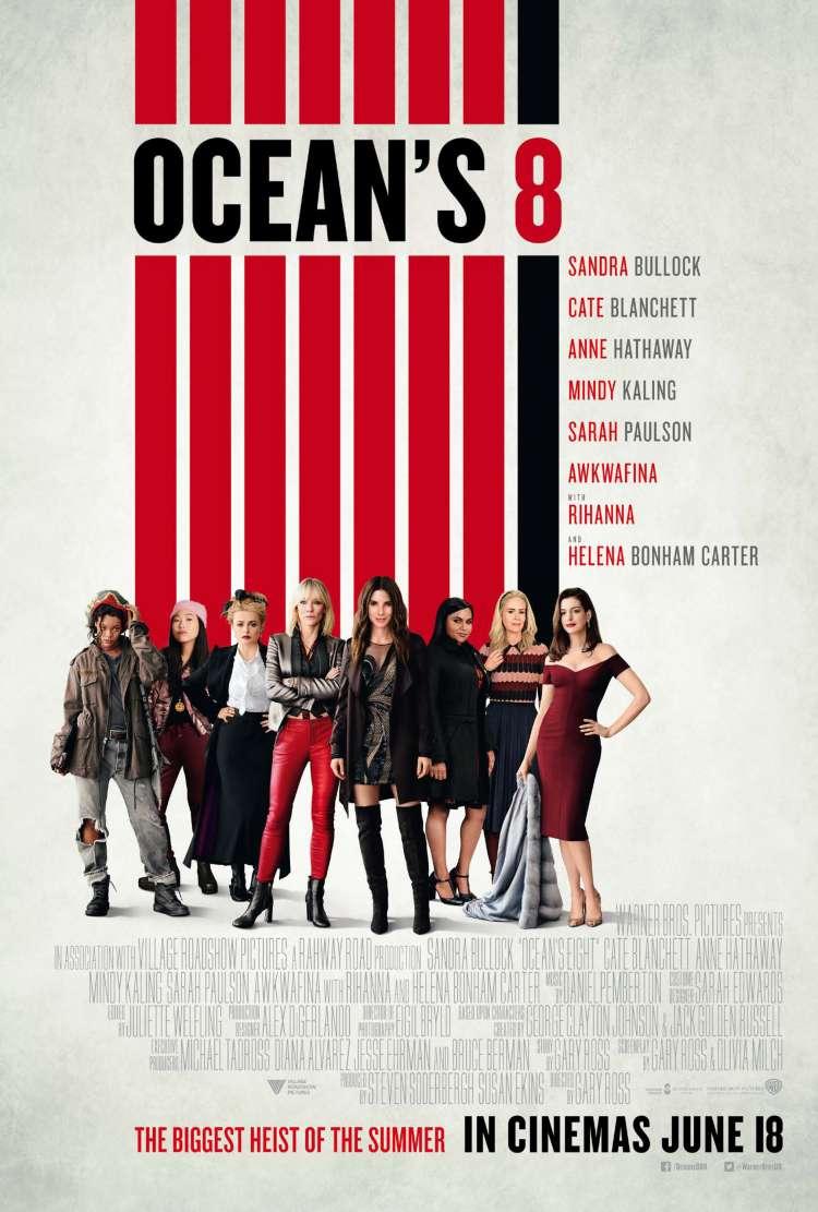 Ocean's 8 2018 Full Movie Free Online Starring Sandra Bullock, Cate Blanchett, Anne Hathaway, Mindy Kaling, Sarah Paulson, Awkwafina, with Rihanna and Helena Bonham Carter.