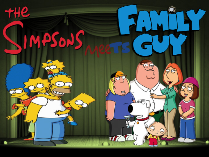 The Simpsons meet Family Guy