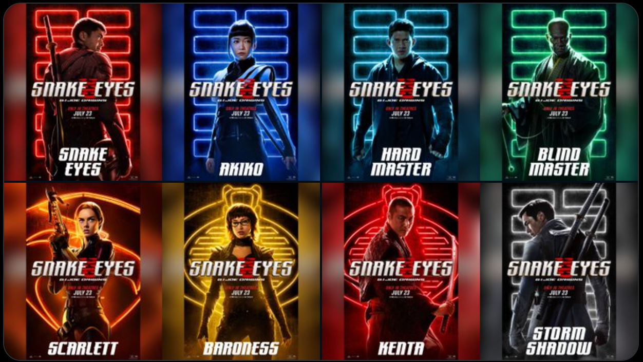 snake eyes, posters,2021
